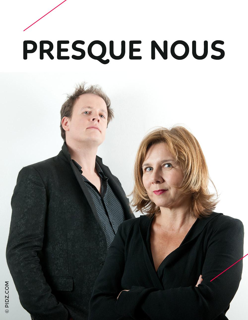 Presque nous - spectacle en duo avec Sophie Forte - Thibaud Defever - photo : Pidz.com